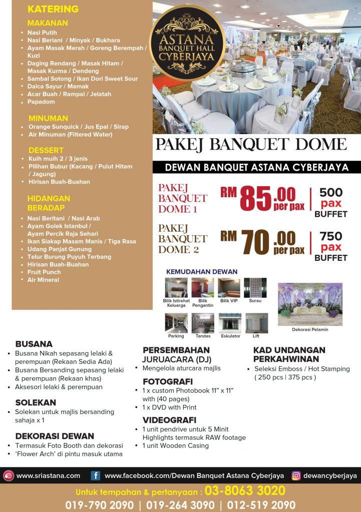 Pakej Banquet Dome